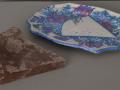 Plat et part de drageoir en chocolat (Galvin & Alice Mulliez) - L : 23 cm