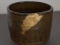 Bol chakassu tenmoku avec une tache d'or